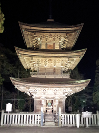 Three‐storied Pagoda(light up)